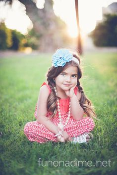 Cute pose for a little girl