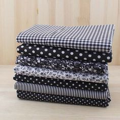 Black Serie 7 Assorted Pre-Cut Charm Cotton by AtCraftingWorld