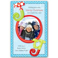 Joy Christmas Photo Cards | PaperStyle