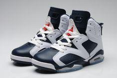 Nike Air Jordan 6 White Dark Blue for Men_01