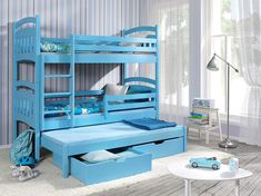 bunk beds ye perfect choice jacob 3 children triple bunk bed pine wood 22 colours 2 sizes 4 types of mattresses uk stan Triple Bunk Beds, Chloe, Bunk Bed With Trundle, Baby Kind, How To Make Bed, Bed Sizes, New Room, Child's Room, Bed Frame