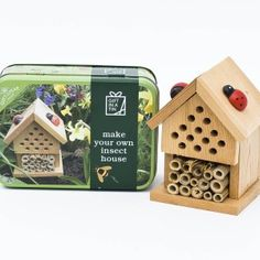 Gift in a Tin : Make your Own Insect House - Toys and Games Ireland Build Your Own House, Make Your Own, Make It Yourself, How To Make, Craft Kits For Kids, Kids Crafts, Gifts For Kids, House Insects, Wood Glue