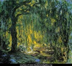 Weeping Willow II - Oscar-Claude Monet (1840-1926)