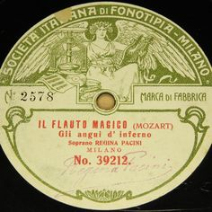 """With rare photosleeve !!     2nd 78rpm springtimeauction 78rpm with many Raritys :-)     !!! Low Startprice !!! Worldwide shipping !!!     REGINA PACINI """"Il Flauto Magico & Paquita"""" FONOTIPIA with PhotoSleeve 27cm 78rpm"""