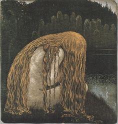 "suonko:""by John Bauer"" John Bauer, Fairytale Art, Dark Art, Art Inspo, Fantasy Art, Fairy Tales, Illustration Art, Fine Art, Drawings"