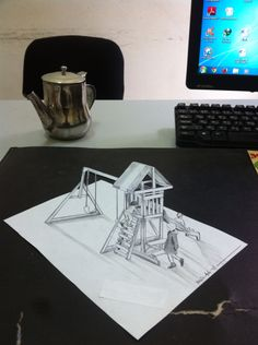 3D drawing Kids park on office by Yassin AYDA