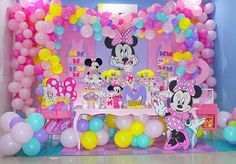 Esplêndida festa no tema Minnie Rosa! Minnie Mouse Theme Party, Minnie Mouse First Birthday, Mickey Mouse Clubhouse Birthday Party, 2nd Birthday Party Themes, Cinderella Birthday, Minnie Mouse Pink, Birthday Party Decorations, Bow, Daisy Duck Party