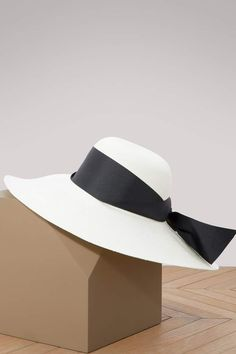 e8e77a80eb1 Sensi Studio Lady Ibiza hat with large ribbon Domestic Goddess
