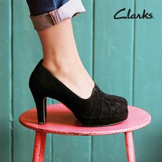Clarks Autumn/Winter 2014 Collection | Women's shoes | Delsie Joy | Heels | I am so in love with these