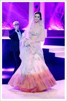 Bridal lehenga for a summer bride by Suneet Verma #lehenga #choli #indian #shaadi #bridal #fashion #style #desi #designer #blouse #wedding #gorgeous #beautiful
