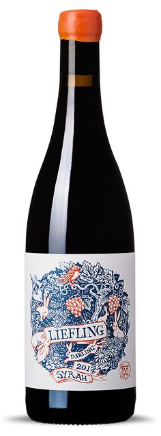"Label design for De Kleine Wijn Koöp. ""Liefling"" meaning Darling in Afrikaans, is also the area where this wine is from."