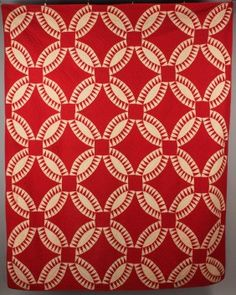 East Tennessee Pieced Red & White Quilt