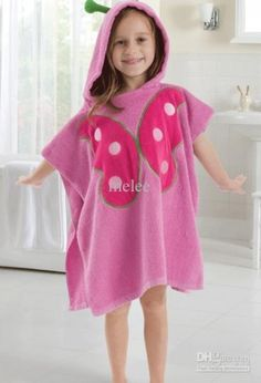 Cute Butterfly Face Pink Hooded Bath Beach Towel, Animal Design Bathrobe for Kids - Girls Fashion Clothes, Girl Fashion, Fashion Outfits, Baby Dress Patterns, Girls Sleepwear, Cute Butterfly, Baby Warmer, Cute Outfits For Kids, Kid Styles
