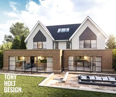 Tony Holt Design : Self Build Design for Modern New Build House Style At Home, Self Build Houses, Dream House Exterior, House Extensions, Modern Farmhouse Decor, The Ranch, New Builds, Modern House Design, Detached House