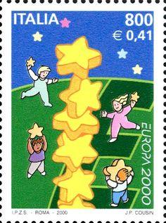"2000 - ""Europa Unita"" - Stelle e bambini"