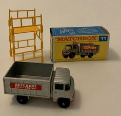 Lesney 1969 Matchbox #11 Scaffolding Truck Removable Scaffold Original Box Mint #Matchbox #REFBScaffoldTruck