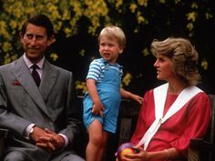 Prince William with his parents on his 2nd birthday, June 1984