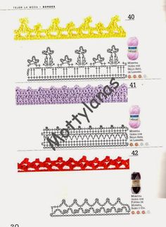 Revistas de manualidades Gratis: Como hacer bordes en crochet