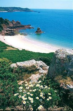 Beauport Bay, Jersey, Channel Islands, UK Once part of France the Channel Islands retain a very French atmosphere.