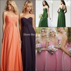 Online Shop Best Selling 2015 Pink Long Cheap Bridesmaid Dresses Under 50 Sweetheart Off the Shoulder Chiffon Wedding Party Dress ZH1561|Aliexpress Mobile
