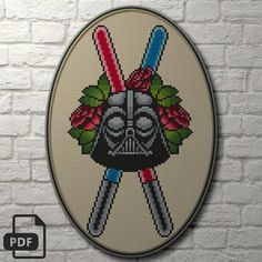 Darth Vader Cross Stitch Pattern INSTANT DOWNLOAD