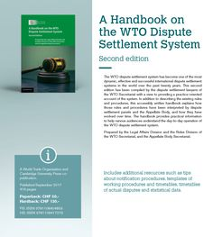 2017 News items - New handbook provides up-to-date guidance on WTO dispute settlement proceedings