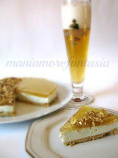 cheesecake salato al gorgonzola con gelatina sala birra