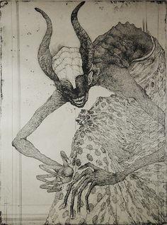 Toshihiko Ikeda : The Smiling Old King - beautiful black horns- at Davidson…
