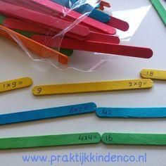 Tafels oefenen d.m.v. spel, kleur en bewegen. Www.praktijkkindenco.nl…