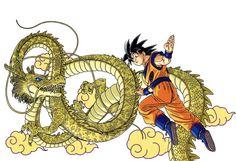 Goku from DRAGON BALL ARTBOOKS Artworks by AKIRA TORIYAMA