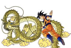 Goku from DRAGON BALL ARTBOOKS Artworks by AKIRA TORIYAMA