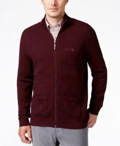 Tasso Elba Men's Ribbed Mock Turtleneck Ribbed Sweater, Only at Macy's