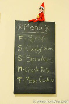 Elf on the Shelf Ideas: Menu Change