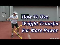 How To Use Weight Transfer In Tennis For More Power - YouTube