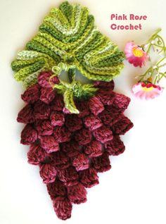 PINK ROSE CROCHET /: Pega Panelas Cacho de Uvas