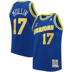 f23bcb4b1db Chris Mullin Golden State Warriors Mitchell & Ness Road 1993/94 Hardwood  Classics Authentic Jersey - Navy