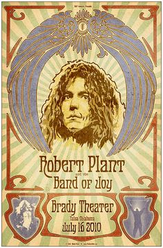 Awesome Concert Posters | Robert Plant at the Brady Concert Poster