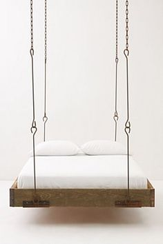 anthro hanging bed. swoon.