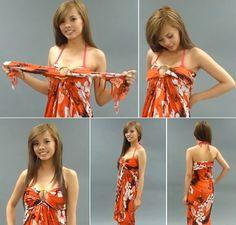 Как завязать парео, фото Luau Dress, Sarong Dress, Tahiti, Swim, Tropical, My Style, How To Wear, Clothes, Dresses