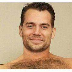 Cavill that smile and hairy chest, does things to me