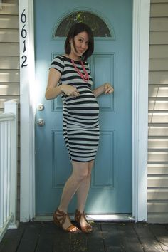 yay for the pregnant body. and stripes!