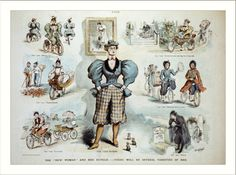 Victorian cycling fashion