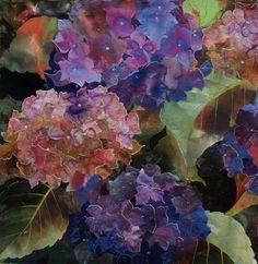 detail of Hydrangea 1 by Amanda Richardson - textile collage