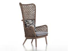 Bergere rattan armchair INOUT 630 by Gervasoni