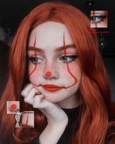 Uploaded by tcofy. Find images and videos about girl, aesthetic and makeup on We Heart It - the app to get lost in what you love. Edgy Makeup, Eye Makeup Art, Clown Makeup, Crazy Makeup, Cute Makeup, Makeup Eyes, Halloween Makeup Clown, Joker Makeup, Halloween Eyes