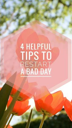 These are very helpful tips on how to restart a bad day! Will defenetly come back to this when I need to restart my day. Read it now and you can pin it for later!