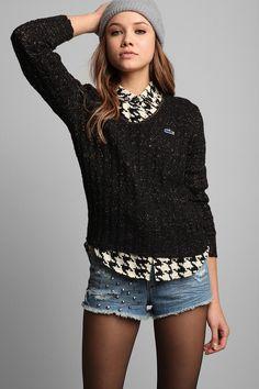 Vintage '60s Lacoste Lurex Sweater #urbanoutfitters #vintage
