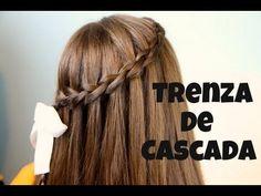 ♥COMO HACER LA TRENZA DE CASCADA♥ - YouTube