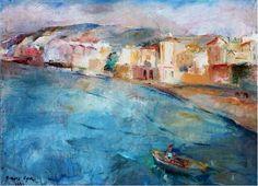"""Beirut """"Ein El Mreisseh"""" by Lebanese artist George Cyr in 1934"""
