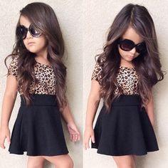 $7.09 (Buy here: https://alitems.com/g/1e8d114494ebda23ff8b16525dc3e8/?i=5&ulp=https%3A%2F%2Fwww.aliexpress.com%2Fitem%2F2016-Fashion-Summer-Cute-Kids-Girl-Dress-Leopard-Print-Kids-Dresses-For-Baby-Girl-Short-Sleeves%2F32795100978.html ) 2016 Fashion Summer Cute Kids Girl Dress Leopard Print Kids Dresses For Baby Girl Short Sleeves Party Dress Clothes Black for just $7.09